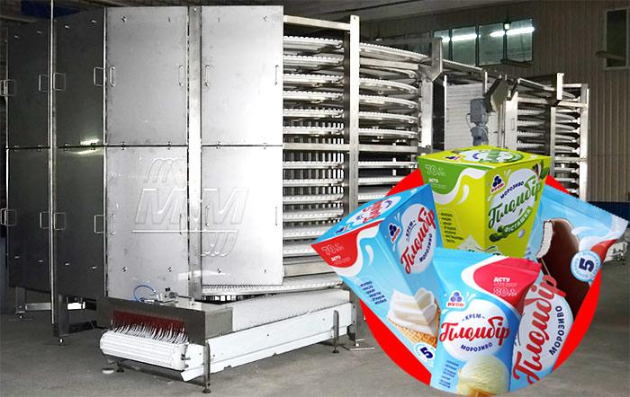 Спиральный конвейер для заморозки мороженого по заказу компании «Рудь» |  Мастер Милк