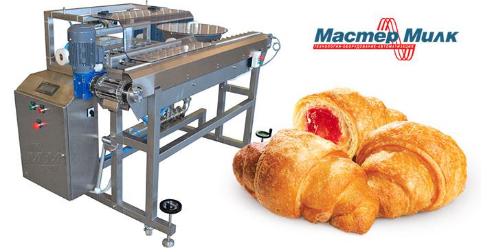 Две установки для наполнения начинкой круассанов в Азербайджан | Пищевое оборудование от Мастер Милк